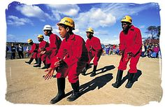 Mine workers performing the popular miners Gumboot Dance - South Africa dance African Dance, African Art, South Africa Tours, Kids Homework, Kids Dress Up, Wellington Boot, My People, Culture, Zine