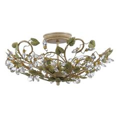 I pinned this Josie Semi Flush in Champagne Green Tea from the Crystorama event at Joss and Main!