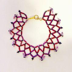 Purple bracelet Bird lovers Purple jewelry by JeriAielloartstore