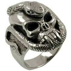 Skull & Snake - Sterling Silver Ring Old Glory. $40.00
