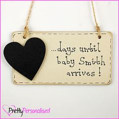 Personalised Birth Countdown Plaque Pregnancy Baby Shower Gift Present Mum To Be | eBay