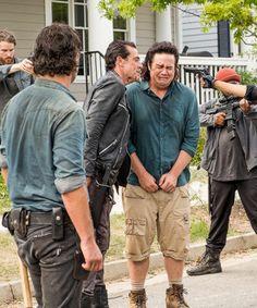""" Negan, Eugene and Rick in The Walking Dead Season 7 Episode 8   Hearts Still Beating """