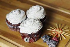 Weihnachtliche Lebkuchen Cupcakes mit Zimtfrosting