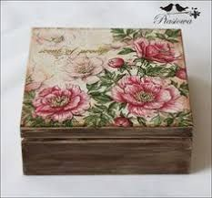 Vintage, Shabby Chic, Decoupage, MDF, caixas mdf decoradas,: Arte Vintage Decoupage Glass, Decoupage Art, Decoupage Vintage, Cigar Box Crafts, Clay Box, Craft Bags, Vintage Box, Fabric Jewelry, Craft Items