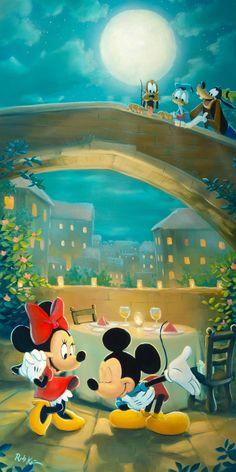 Cuisine For Two _ Rob Kaz _ Disney Fine Art _ Epcot Food & Wine Festival