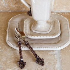 GG Collection Fleur De Lis Flatware - mediterranean - flatware - atlanta - Iron Accents