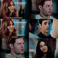 """1,137 To se mi líbí, 31 komentářů – shadowhunters (@clacetales) na Instagramu: """"2x14 As if anyone would ever believe that hahahahah — q  are you in school or on break? a  done…"""""""