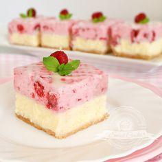 Świat Ciasta: Sernik - Malina Polish Desserts, Polish Recipes, Unique Desserts, Cute Desserts, Yummy Treats, Sweet Treats, Yummy Food, Cake Recipes, Dessert Recipes