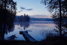 Midsummer night in Finland and lake scene blue calm finland finnish lake landscape mid summer midsummer midsummer night night summer Helsinki, Finland Summer, Summer Nights, Trip Planning, Travel Photos, Airplane View, Places To See, Travel Inspiration, Beautiful Places