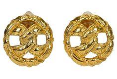 Chanel Knot Logo Earrings