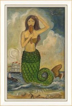 KI Mermaid with Mirror Green Tail