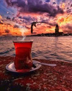 """""""""""Çayın da derdi var,dedi adam, Ateşler içinde yandığına göre, Unutulduğunda soğuduğuna göre,…"""" Great Coffee, Coffee Time, Tea Time, V60 Coffee, Coffee Cups, Mein Land, Istanbul Travel, Turkish Coffee, Wine Drinks"""