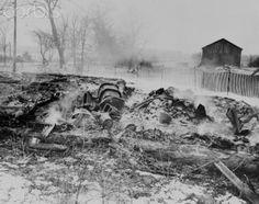 Smoldering Remains of Serial Killer Ed Gein's Home (1958)