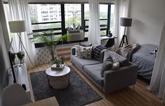 It's only a small studio, but it's the first apartment that's all mine. It's only a smal Studio Apartment Living, Small Apartment Bedrooms, One Room Apartment, Studio Apartment Layout, Small Studio Apartments, Small Apartment Interior, Small Apartment Design, Studio Apartment Decorating, Small Room Design