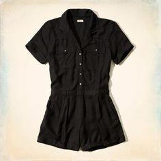 Drapey Shirt Romper