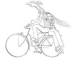 Amoureux à vélo, Sempé