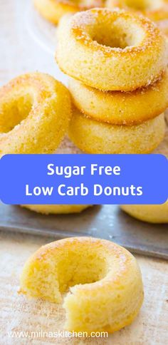 Keto Sugar Free Low Carb Donuts This low carb donuts recipe with almond flour is easy to make. These keto donuts taste just like regular […] Donuts Keto, Low Carb Doughnuts, Sugar Free Donuts, Low Carb Donut, Healthy Donuts, Sugar Free Diet, Healthy Sugar, Sugar Free Desserts, Diet Desserts
