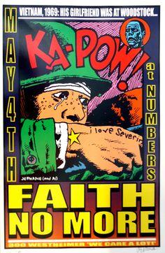 1998 Faith No More concert poster, ka-pow!