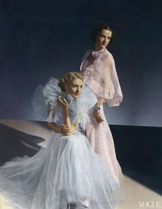 Two gowns shown in Vogue, June 1935. Photographed by Horst P. Horst.