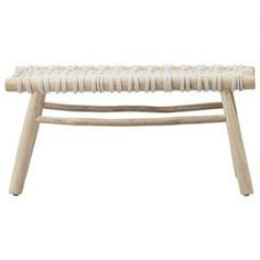Buy Lene Bjerre Crosillia Bench Teak Wood Cotton online with Houseology's Price Promise. Full Lene Bjerre collection with UK & International shipping. Bamboo Furniture, Coastal Furniture, Furniture Design, Scandinavian Furniture, Scandinavian Living, Tropical Decor, Tropical Style, House And Home Magazine, Teak Wood