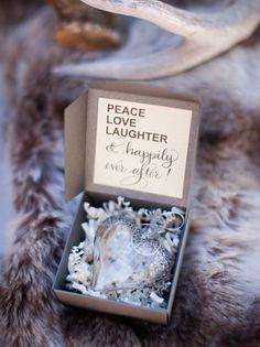 20 Heart Shape Wedding Details: Heart Ornament Favour | SouthBound Bride | http://www.southboundbride.com/heart-shape-wedding-details | Credit: Ashley Gain Weddings/Gina Meola via Ashley Gaine