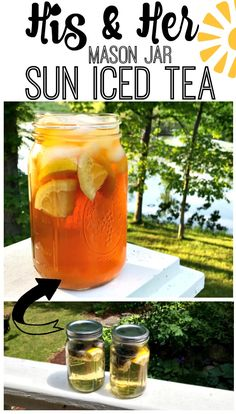 "What a cute idea to make ""His & Her Mason Jar Sun Iced Tea""! I am trying this today. The recipe is simple! Sun Tea Recipes, Picnic Recipes, Picnic Ideas, Free Recipes, Pinterest Recipes, Pinterest Food, Chocolate Chip Recipes, Chocolate Chips, Picnic Foods"