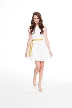 White lace girly chic dress