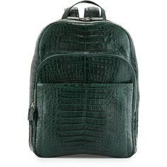 Santiago Gonzalez Caiman Crocodile Backpack (258,940 PHP) ❤ liked on Polyvore featuring bags, backpacks, hunter green, pocket backpack, pocket bag, santiago gonzalez, crocodile backpack et crocs bag