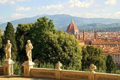 A beautiful view of #Florence from the courtyard of the church of San Miniato al Monte, near Piazzale #Michelangelo.