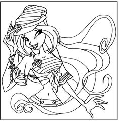 Sailor Flora Winx Club coloring picture for kids