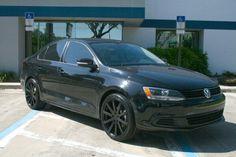 Blacked out Volkswagen Jetta