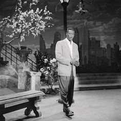 "Nat King Cole appearing on ""The Ed Sullivan Show"" in February 1956. Photo: Michael Ochs Archives/Corbis."
