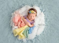 Destiny Gown {pastel tones} Rainbow Newborn Gown Rainbow Baby Hope Newborn Gown by Sew Trendy by SewTrendyAccessories Newborn Bebe, Newborn Baby Photos, Newborn Baby Photography, Newborn Pictures, Newborn Session, Baby Pictures, Baby Newborn, Book Infantil, Book Bebe