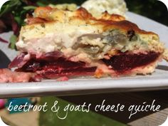 Beetroot and Goats Cheese Quiche http://www.mummymishaps.co.uk/2013/07/beetroot-and-goats-cheese-quiche.html#comment-106464