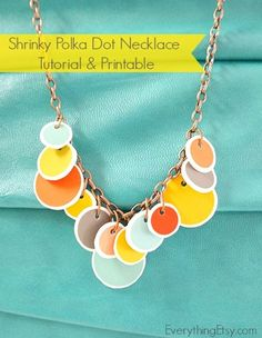 Polka Dot Necklace Tutorial & Printable @Everything Etsy