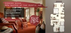 COMING SOON!  Spa Suites at The Rustic Inn at Jackson Hole!  Book your suite for summer & save 15% http://bit.ly/1m6zgHS