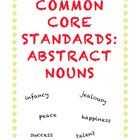 A lesson on abstract nouns lesson cannot be abstract. FREE printable with activity at the end.