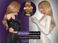 Curled Hairstyles, Straight Hairstyles, Wedding Hairstyles, Female Hairstyles, Long Wavy Hair, Very Long Hair, Curling Straight Hair, Sims 4 Nails, Sims 4 Cas Mods