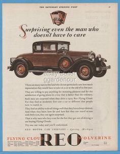 reo motor car co lansing mi flying cloud 2 door sport coupe rumble seat ad