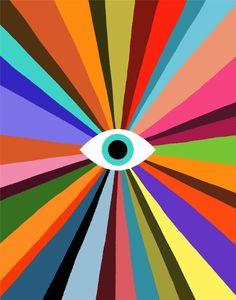 Iphone Wallpaper Vsco, Eyes Wallpaper, Evil Eye Art, Posca Art, Hippie Art, Psychedelic Art, All Art, Art Lessons, Framed Art Prints