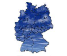 deutschland, wetter, karte, landkarte, atlas - 10934152