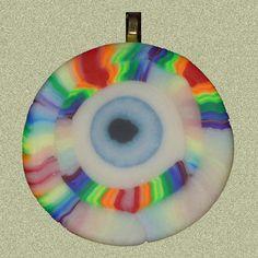 EyeGloArts Glow in the Dark Jewelry Rainbow Evil Eye by EyeGloArts, $40.00