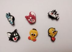 Looney Tunes Shoe Charms 6 Pc Set - Jibbitz Croc Style by shopzone. $0.99