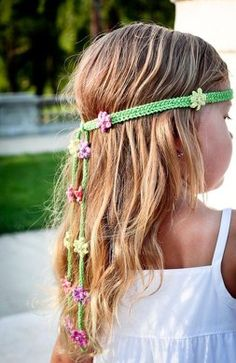 Summer Girl – knitted headband Knitting pattern by Monika Sirna - Stirnband Stricken Love Knitting, Knitting Patterns, Crochet Patterns, Summer Knitting, Knit Headband Pattern, Knitted Headband, Crochet Headbands, Crochet Hair Accessories, Crochet Hair Styles