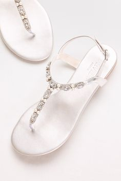Pearl and Crystal T-Strap Sandals for an easy and comfortable look for prom