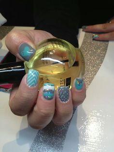 Sweet nails! Toe Nails, Make Up, My Style, Sweet, Hair, Feet Nails, Candy, Toenails, Toe Polish