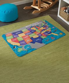 This Map of the USA Floor Puzzle is perfect! #zulilyfinds