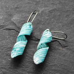 Polymer clay earrings by mingapunga.