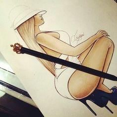 Nicki Minaj drawing art