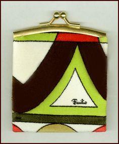 MINT 1960's Emilio PUCCI Print Suede Cloth Coin Purse Shop for #vintagefashions at RubyLane.com